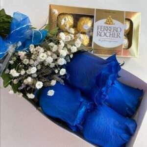 Rosas Azules Ferrero Rocher